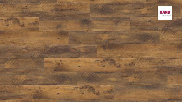 526678 HARO Laminatboden Landhausdiele 4 V Eiche Altholz strukturiert matt Ver