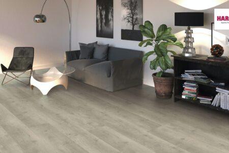 541513 HARO Laminatboden Gran Via 4 V Eiche Bergamo silbergrau authentic soft QV
